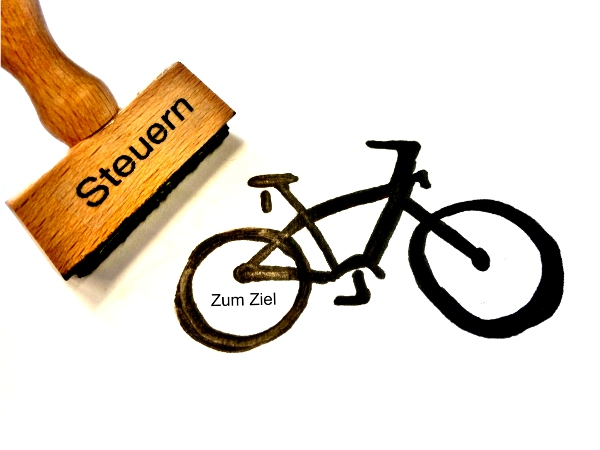 Fahrrad: Zum Ziel steuern