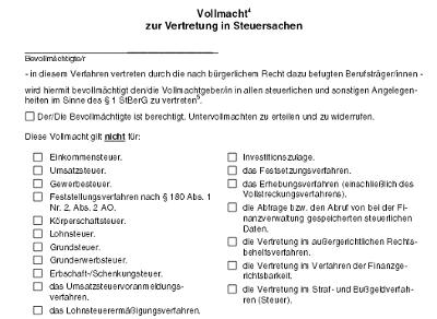 Vollmachtsdatenbank – Lexikon der Steuerbegriffe