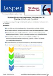 Kirchensteuer und Kapitalgesellschaften: Offenlegungspflicht der Kirchenzugehörigkeit?!