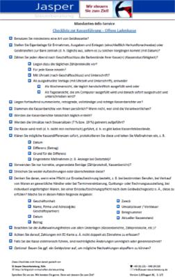 Checkliste offene Ladenkasse